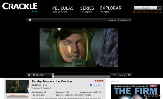 Crackle tv online2