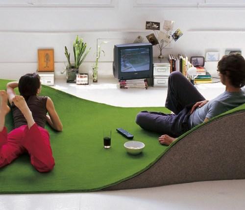 alfombra verde estilo valle