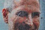 Retrato de Steve Jobs  por Bradley-Hart-Bubble-Wrap