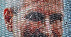 Retrato de Steve Jobs  por Bradley-Hart-Bubble-Wrap