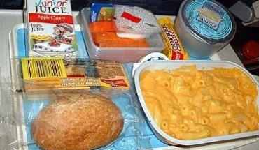 Comida en los aviones