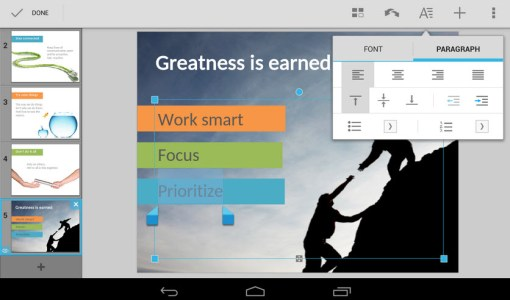 Crear docuementos Microsoft Office con QuickOffice