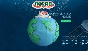 Seguir a Papa Noel en mapa interactivo