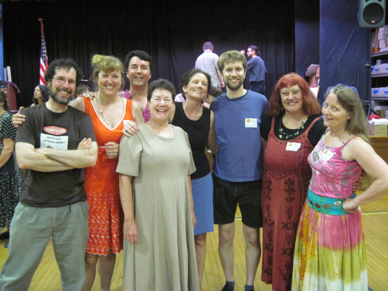 Some of the friendly faces you'll meet at the Worcester contra dance!
