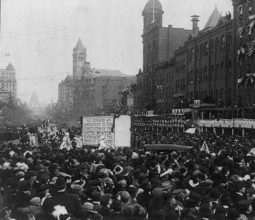 suffragette_parade-_grand_marshall_mrs-_richard_burleson_herald_miss_inez_milholland