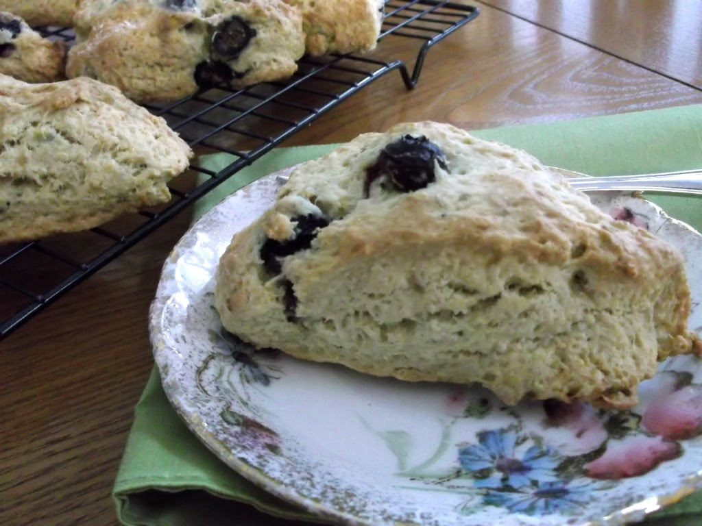 Banana Blue Berry Scones