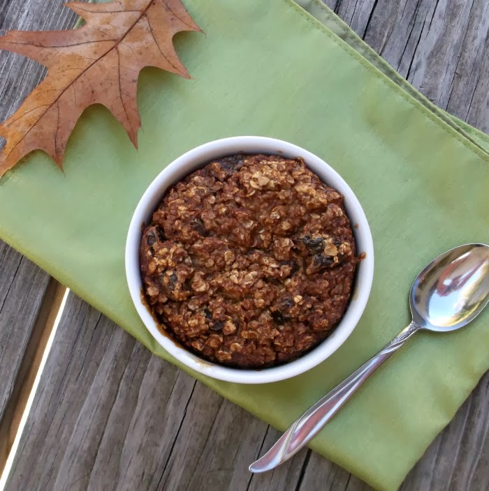 Baked Oatmeal with Brown Sugar and Raisin - Individual Serving
