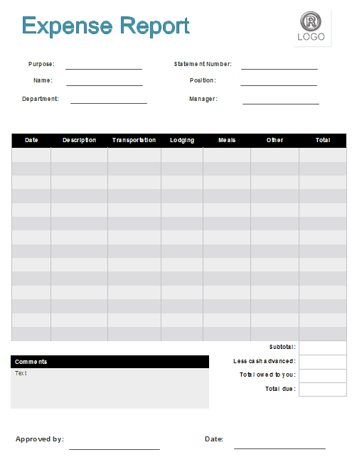 sales expense report template