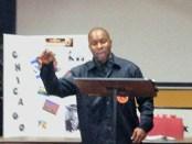 Chawn Saddam Kweli speaks Jan. 5.Photo: Patrice Linarez