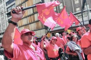 Venezuelans demonstrate for Chávez in Caracas, Jan. 10.