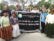 Alliance for Global Justice marches in Lima at Climate Change Summit.Photo: Rick Jordan Jr.