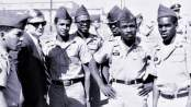 From left, Pfc. Ernest Bess, Atty. Michael Kennedy, Pfc. Guy Smith, Sp/4 Albert Henry, Pvt. Ernest Frederick, Sgt. Robert Rucker, Sp/4 Tollie Royal. October 1968 at Fort Hood, Texas.
