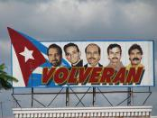 They will return: a billboard in Cuba honors the Cuban Five.