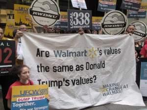 WalmartWorkersProtestTrump
