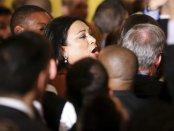 Jennicet Gutiérrez disrupting President Obama.