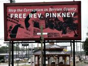 Free Rev. Pinkney billboards have been put up along routes M-139 and I-94 in Benton Harbor, Mich.