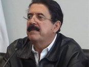Honduran President Mel Zelaya defends Venezuela.WW photo: John Catalinotto