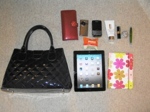 Work from Home Wisdom - Working away from home - What's in Your Bag? Susan Tomlinson
