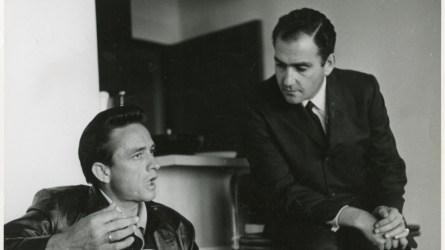 Johnny Cash and Saul Holiff.