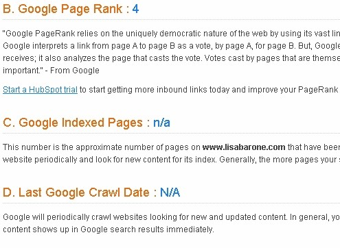 Google shows no real reason to crawl the site or even index any pages according to HubSpot.com