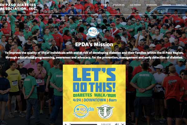 WordPress-design-Diabetes-Association