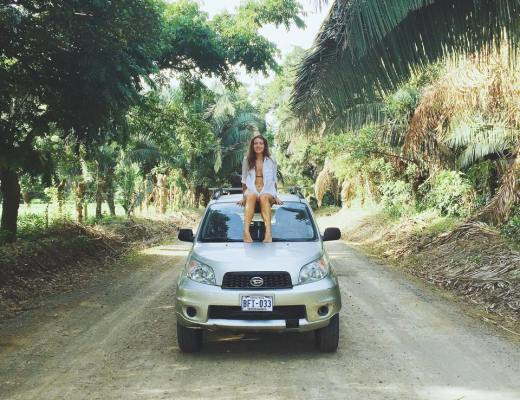 Emma Bates road tripping Costa Rica