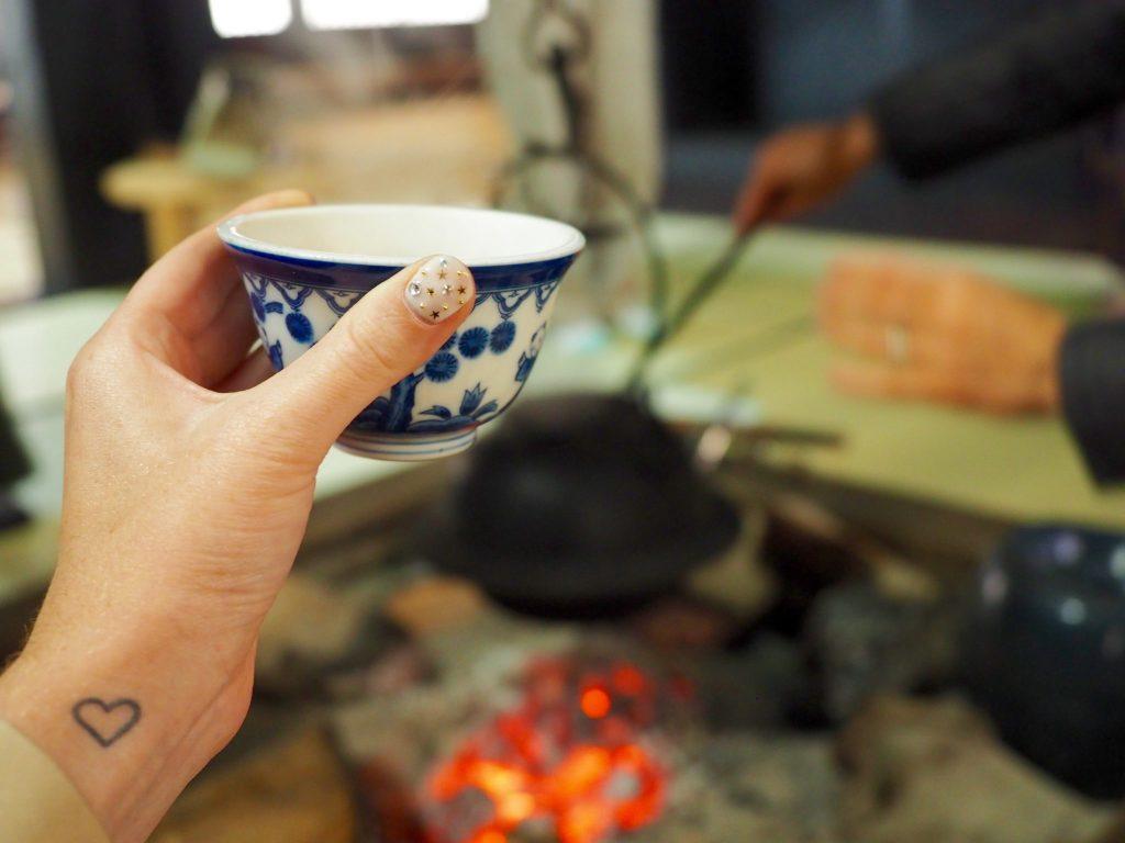 Tea drinking in Japan