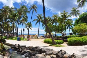 water ocean beach Hilton_Hawaiian_Village_boardwalk_2_Oahu_Hawaii_Photo_D_Ramey_Logan