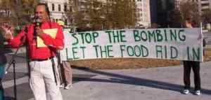 Russel means food not bombs rally protest demonstration