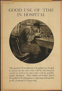 Good use of time in hospital. Poster, 1919.