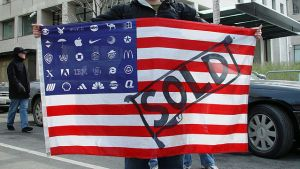 """American corporate flag"" by Jonathan McIntosh"