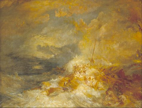 J. M. W. Turner, A Disaster at Sea (also known as The Wreck of the Amphitrite), c. 1833–35, 171.5 cm × 220.5 cm, Tate, London.
