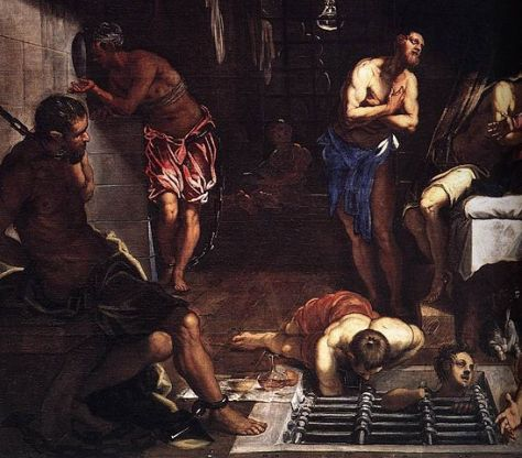 Jacopo Tintoretto - St Roch in Prison Visited by an Angel