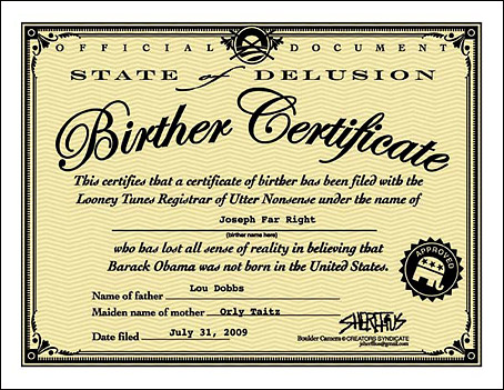 A birthers certificate 2