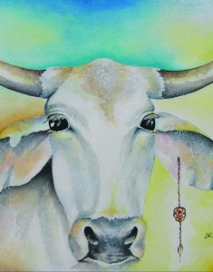 cow by visionary artist Madeleine Tuttle
