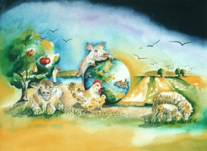 Farm Animals by visionary artist Madeleine Tuttle