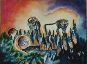 lemurs by visionary artist Madeleine Tuttle