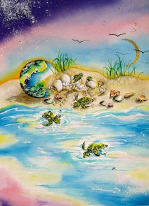 Turtles1 by visionary artist Madeleine Tuttle