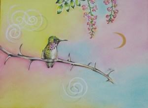 Hummingbird by visionary artist Madeleine Tuttle