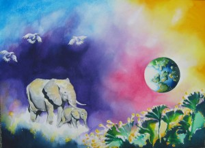 Elephants by artist Madeleine Tuttle