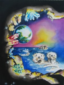otters by visionary artist Madeleine Tuttle