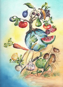 Compassionate Harvest by visionary artist Madeleine Tuttle