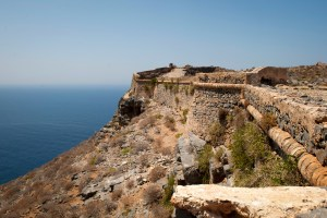 Gramvousa Island fortress wall - @World Travel Mama