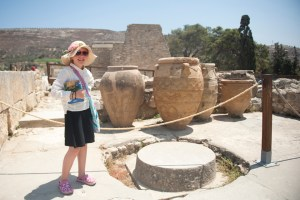 Heraklion, Knossos, giant urns - @World Travel Mama
