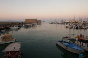 Heraklion harbor at dusk - @World Travel Mama