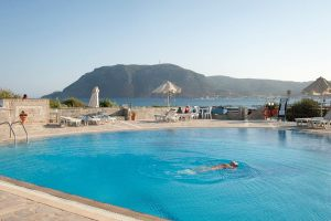 Ionikos Hotel pool, Agios Stefanos Beach, Kos, Greece - @World Travel Mama