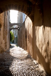 ancient archways, Rhodes Old Town, Greece - @World Travel Mama