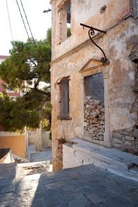 derelict villa, Kali Strata, Symi, Greece - @World Travel Mama