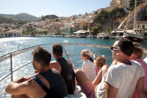 water taxi to Gialos, Symi, Greece - @World Travel Mama
