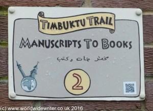 Timbuktu Trail sign